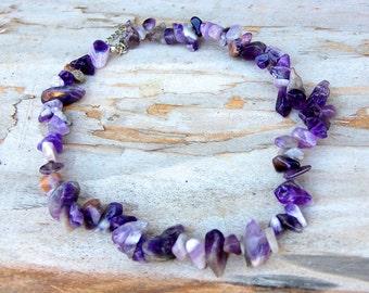 amethyst  Jewelry Gemstone Jewelry birthstone Jewelry  Gemstone necklace amethyst necklace February birthstone necklace Boho amethyst stone