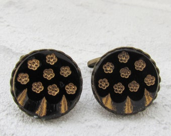Father's Day GIFT brother gift of brother Jewelry For mens cufflinks Vintage Cuff Links bronze Jewelry  for Him cufflinks  bronze  cufflinks