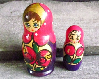 Folk Art Russian doll for kids gift Hand Painted doll Wooden Toy Russian Nesting Dolls Russian doll Babushka Doll Stacking dolls matrioshka