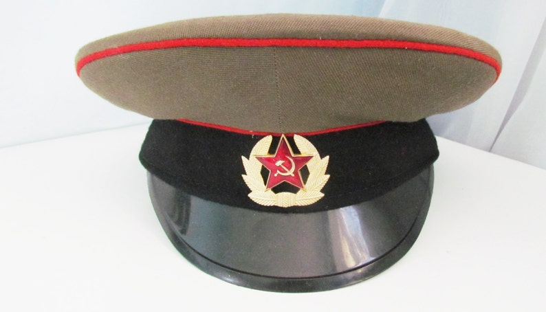 ff863afb219 Vintage Military Hat cap Military Cap Army Cap Officer s