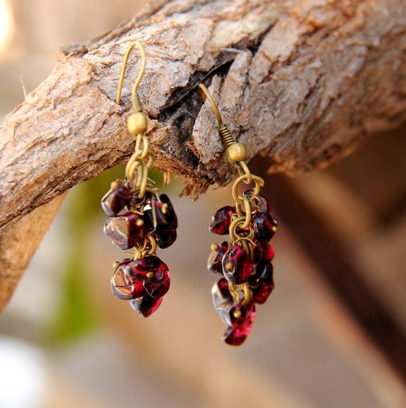 Garnet Jewelry Garnet earring for mom Gifts for best friends image 0