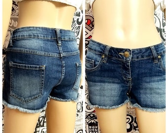 Women's Clothing denim shorts Vintage womens shorts sister gift Jean Shorts M Summer shorts Booty shorts cutoffs