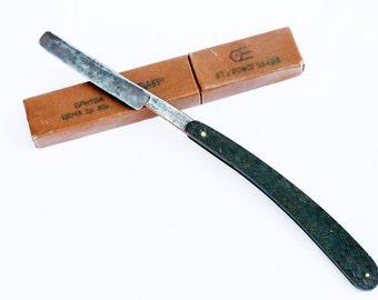Vintage Straight Razor Soviet Straight Razor old barbers tool Collectible razor Antique straight razor Vanity barber accessory Antique Wade