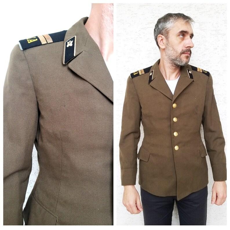 Military Clothing Mens jacket military jacket wool coat image 0