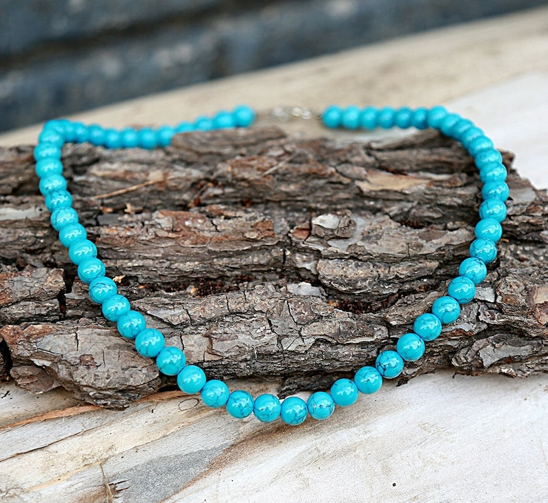 Turquoise jewelry new mother gift beaded necklace Turquoise Necklace Statement necklace Boho necklace Statement jewelry  Boho jewelry Tribal
