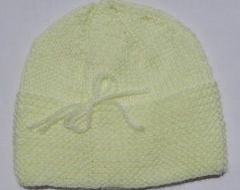 Buttercup Hand Knit Baby Hat 06a6592561bd