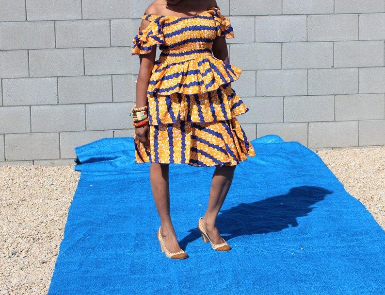 Elastic tier Dashiki dress Bohomia African fashion traditional African Tier Ankara women\u2019s dress dashiki dress African maternity dress