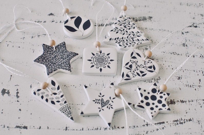 NORDIC HYGGE Christmas Heart Silver Crafting Quilting Cotton Fabric Scandi Style