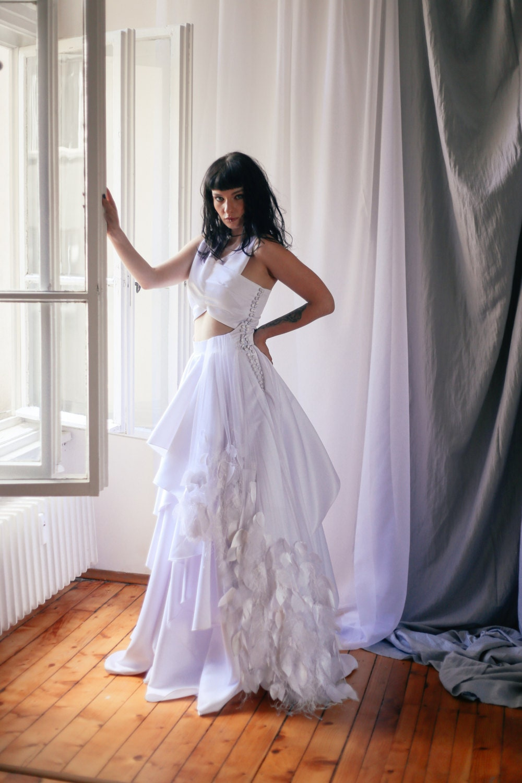 Boho Kleid lange Brautkleid böhmischen Hochzeit Kleid