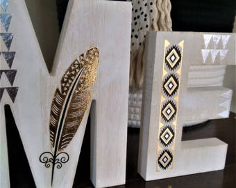 Wooden home decor words - HOME