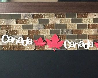Canada Day party, Canada party decor, Canada party, Canada day banner, Canada day garland, Canada flag, Canada flag decor, Canadian banner