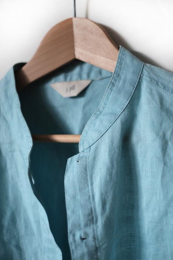 Linen Top | Woman's Vintage | Aqua - image 3