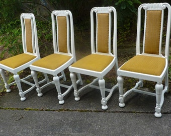 Set Of 4 Art Nouveau Chairs