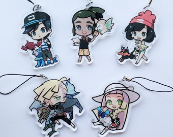 "Pokemon: Sun & Moon 2.5"" inch Clear Acrylic Charms"