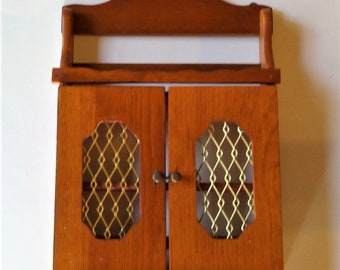 Quick View. Vintage Wall Spice Cabinet With Doors