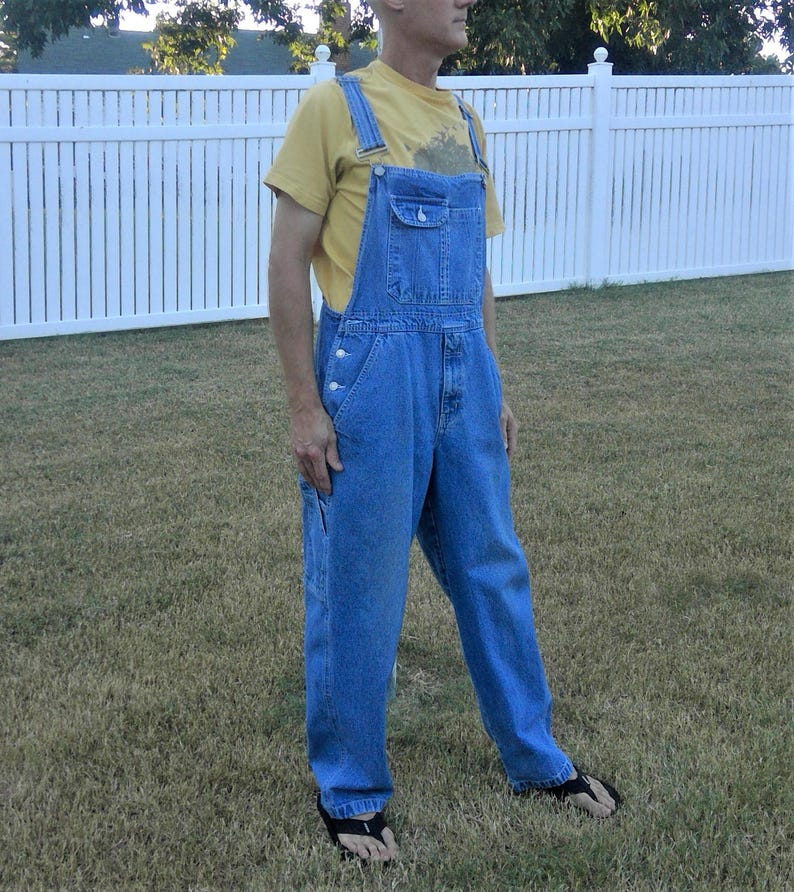 eee7dc9a3a4 Vintage FG Faded Glory Faded Dungarees Denim Overalls Unisex