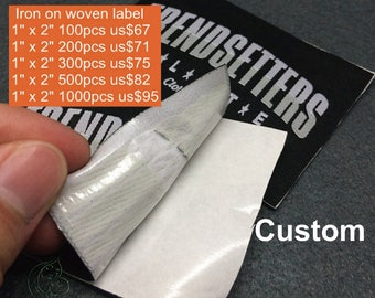 100-1000 pcs Custom clothing labels iron on, cloths iron on labels, clothing labels stick on, iron on clothing labels
