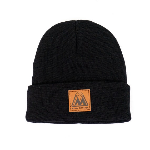 Custom Embroidered Beanie Hat Black Winter Beanie with  36951ba5cf1
