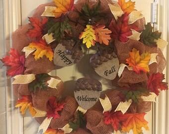 """27"""" Happy Fall Wreath"""