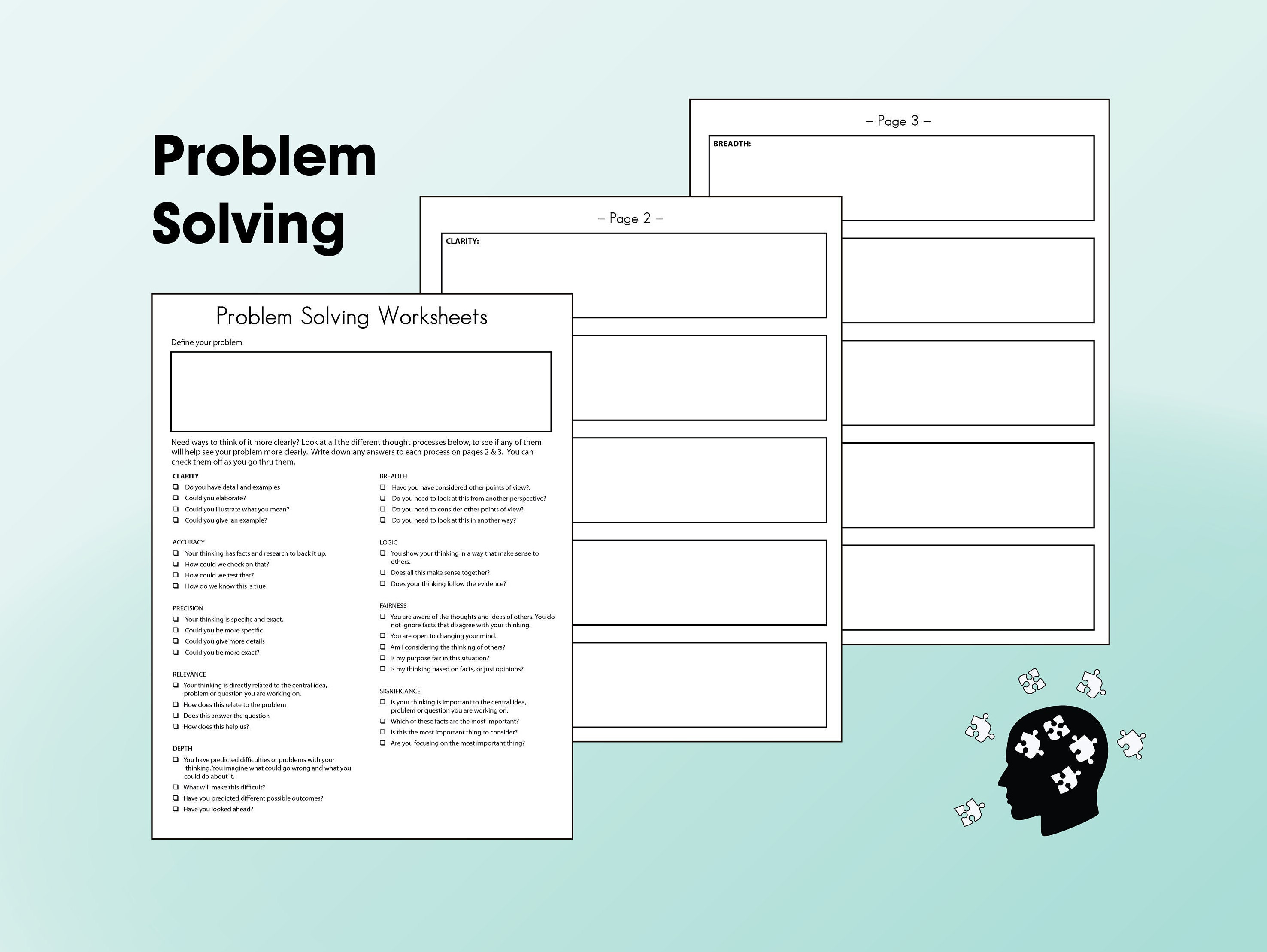 image regarding Printable Stress Test Worksheets named Printable Challenge Resolving and Brainstorming Worksheet for Strain Handle or Workplace