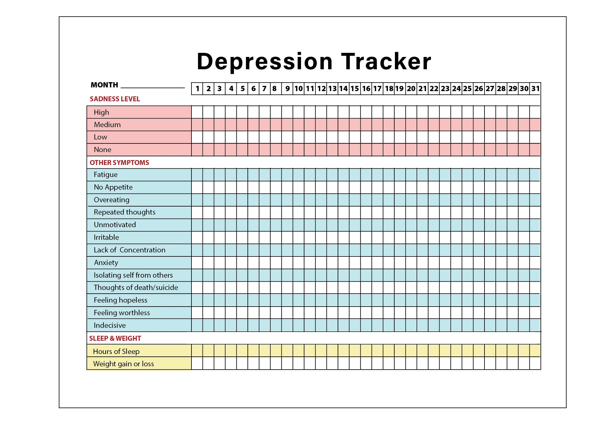 This is a picture of Refreshing Sleep Tracker Printable