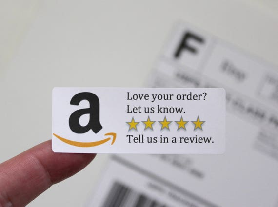 Amazon review sticker custom sticker labels amazon review etsy image 0 reheart Gallery