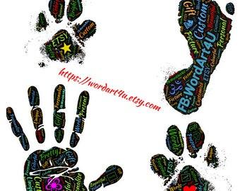 Custom Personalised Hand / Foot / Paw Prints (Digital Download)