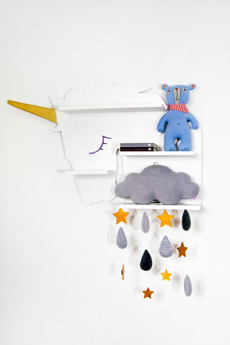 unicorn shelf  kids shelf  book shelf nursery shelf big size image 0
