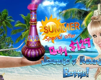 I Dream of Jeannie Genie Bottle The Reunion Bottle Very Limited Supply Get Yours Now!