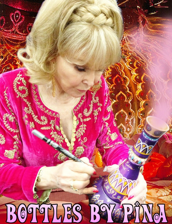 I Dream Of Jeannie Signed Bottle By Barbara Eden Herself Comes Etsy