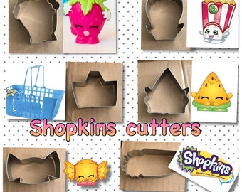 Shopkins handmade cookie cutters (6) set ( 6 pieces) wowowow