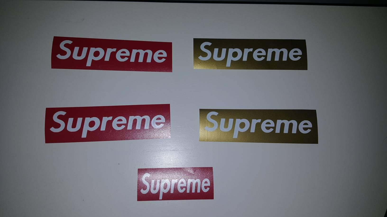 Supreme Sticker Decals Etsy 50