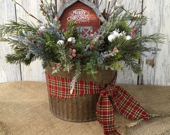 galvanized tin with merry christmas barn primitive christmas country christmas barn farmhouse christmas decor rustic christmas decor - Primitive Christmas Decor