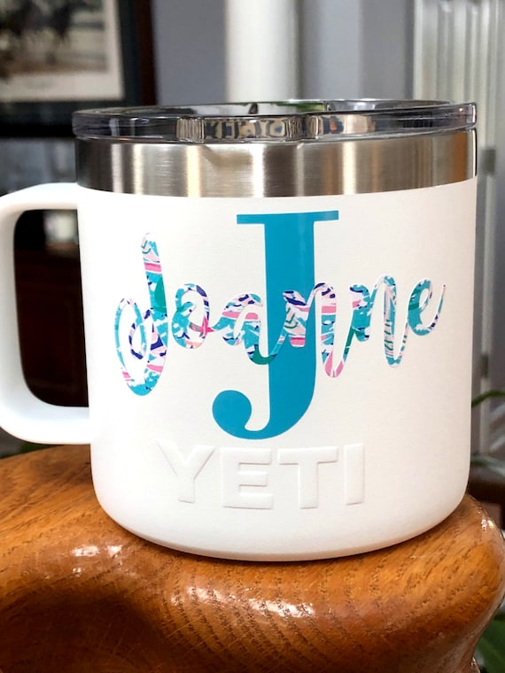 Personalized 14 oz Stainless Steel Vacuum Insulated Mug with Lid