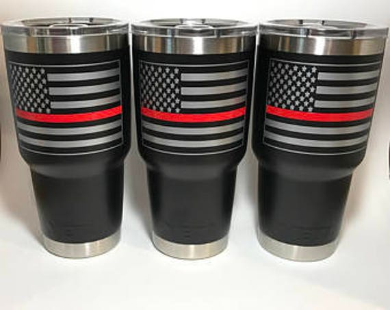 Fire Fighter Thin Red Line Tumbler