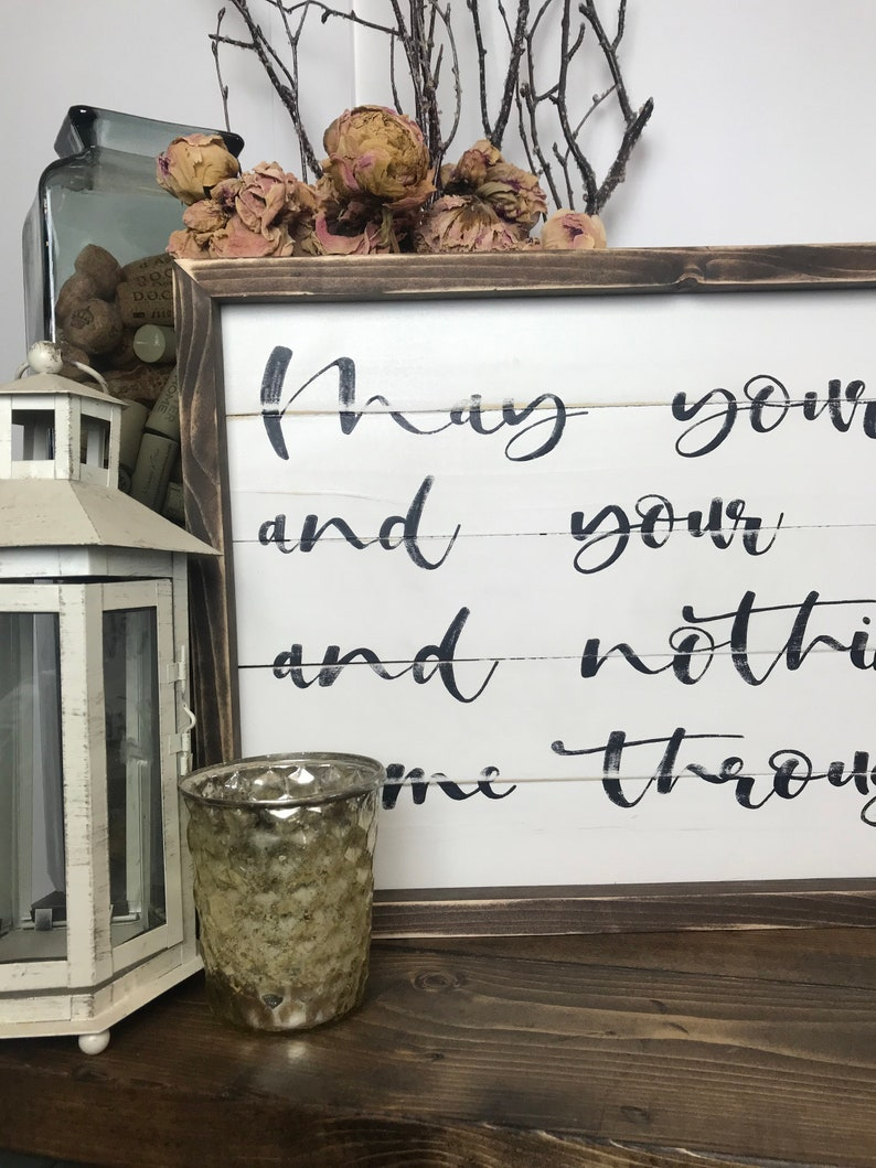 Framed Sign Family and Living Room Sign Housewarming Gift Shiplap Irish Blessing Entryway Sign