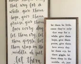 Let Them Be Little | Framed Sign | Nursery Decor