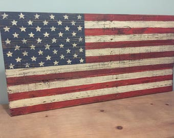 Big Hit!  SMALL Pallet American Flag | Rustic | Weathered | Distressed