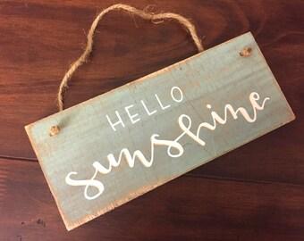 FREE SHIPPING | Hello Sunshine | Rope Sign