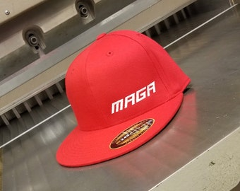 7a493c88a7a MAGA Hat Red FlexFit Flatbill - If you re going to wear a MAGA Hat
