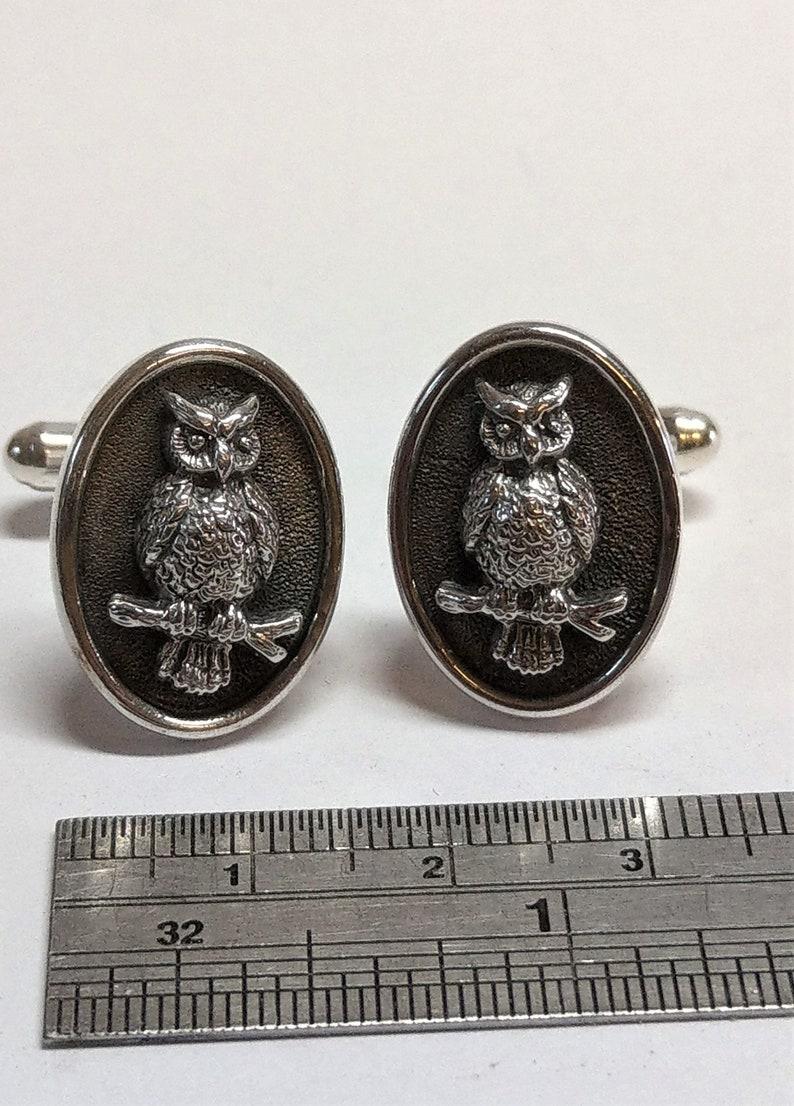 Woodland Athena/'s owl cufflinks Owls Archery Jewelry Owl Cufflinks Nature Wilderness