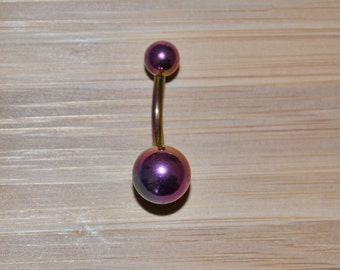 All Rainbow Double Ball Belly Button Ring Navel Body Piercing Jewelry