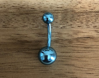 Light Blue Double Ball Belly Button Ring Navel Body Piercing Jewelry