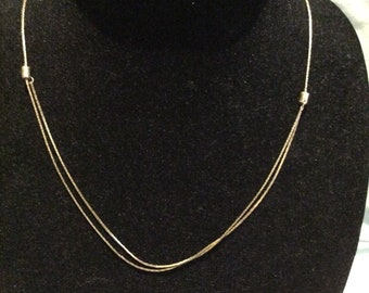Adjustable Gold Tone Necklace