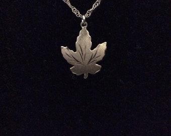 Sterling Leaf Necklace