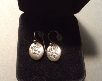 Cute Silver Star Earrings