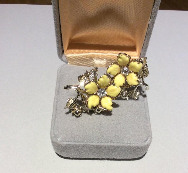 Yellow Flower Screw Back Earrings