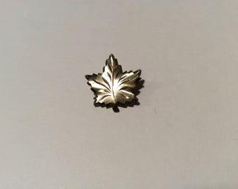 Coro Sterling Leaf Brooch