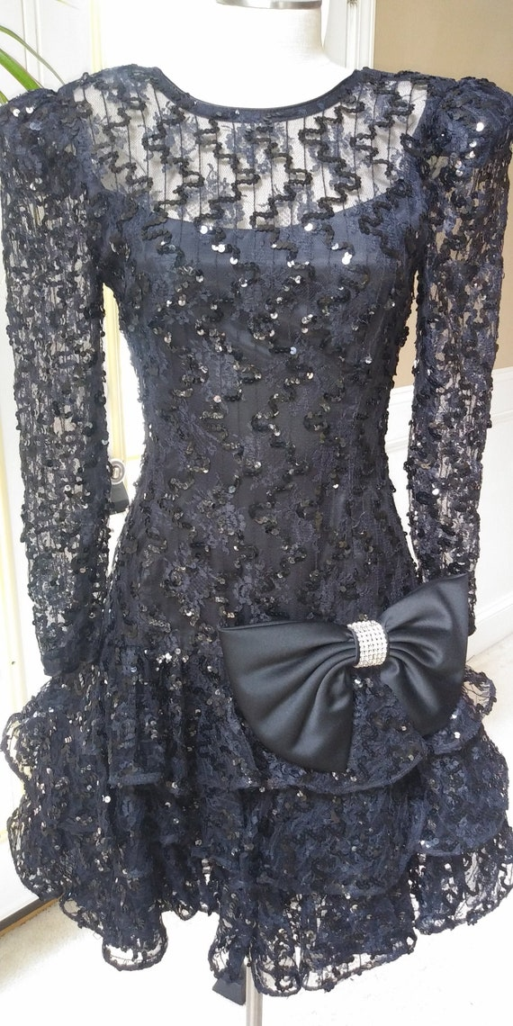 1980's Sequins Formal Dress