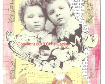 """Card, """"The Little Stars"""" Greeting Card"""